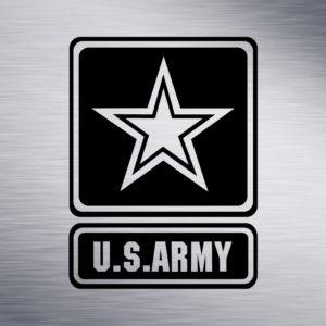 Custom Engraving 2″x 2″ Custom Engraving- US Army engraving