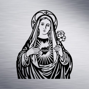 Custom Engraving 2″x 2″ Custom Engraving- Mother Mary engraving