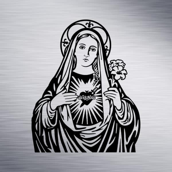 Mother Mary Engraving Design