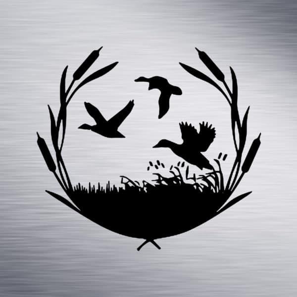 Ducks Engraving Design