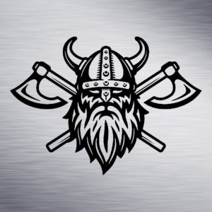 Custom Engraving 2″x 2″ Custom Engraving- Viking with Axe engraving