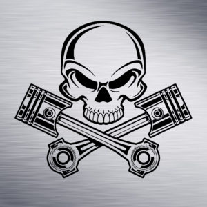 Custom Engraving 2″x 2″ Custom Engraving- Skull engraving