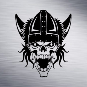 Skull Viking Engraving Design