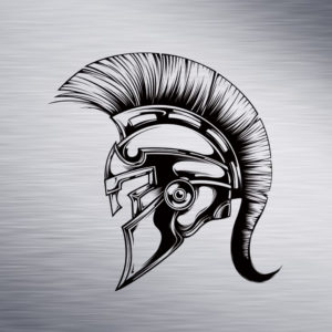 Custom Engraving 2″x 2″ Custom Engraving- Spartan Helmet engraving