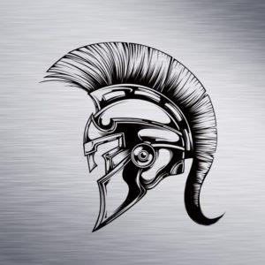 Custom Engraving 2″x 2″ Custom Engraving- Spartan Helmet engraving