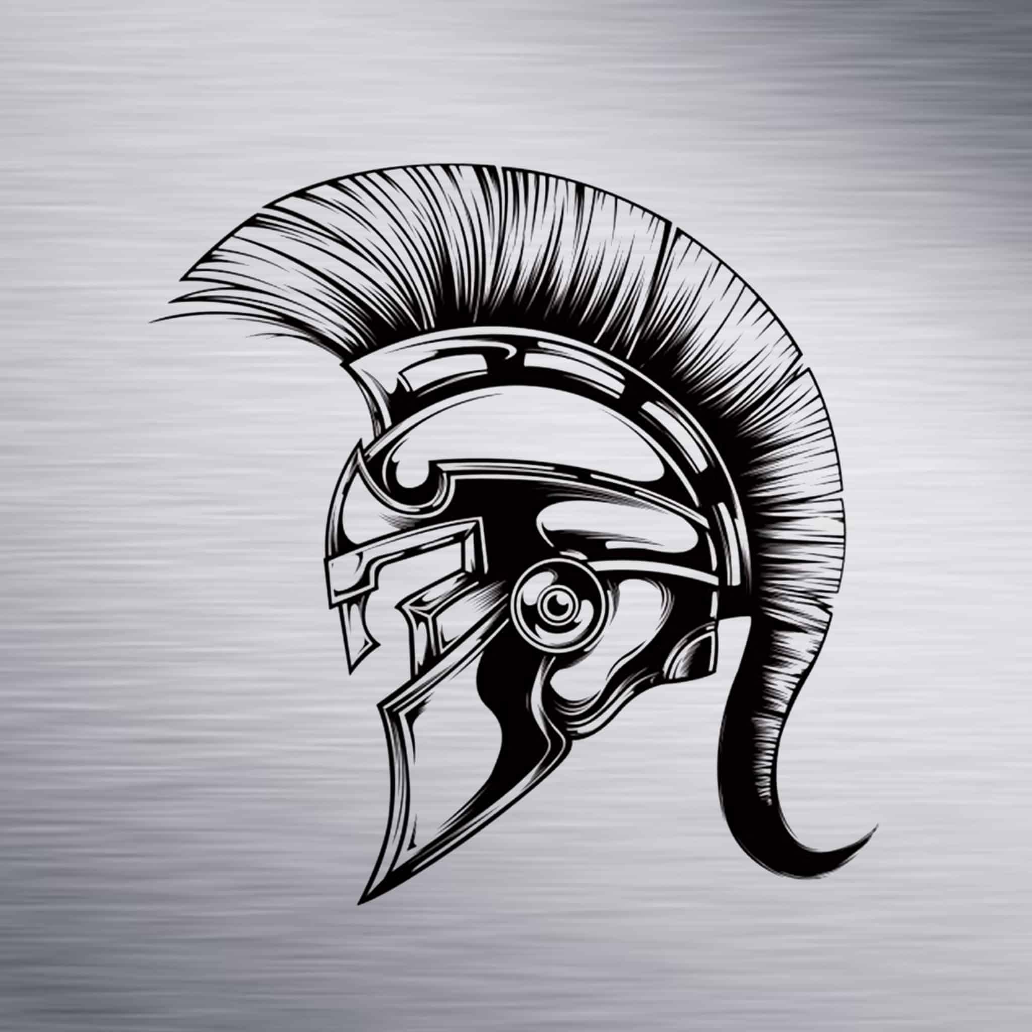 Spartan Helmet Engraving Design