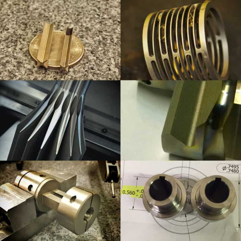 Example images of electrical discharge machining