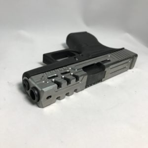 Image of Glock pistol with slide milling