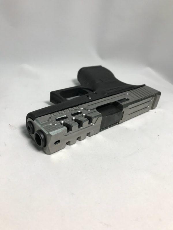 Image of Glock pistol with slide milling