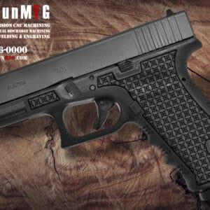 Glock 17 Stippling Laser Stippling Glock 17 Frame T1 Pattern glock