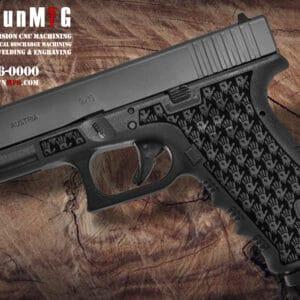 Glock 17 Stippling Laser Stippling Glock 17 Frame T16 Pattern glock