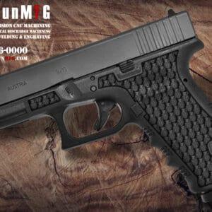 Glock 17 Stippling Laser Stippling Glock 17 Frame T21 Pattern glock