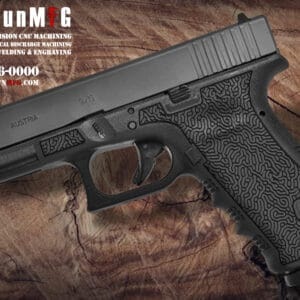 Glock 17 Stippling Laser Stippling Glock 17 Frame T24 Pattern glock