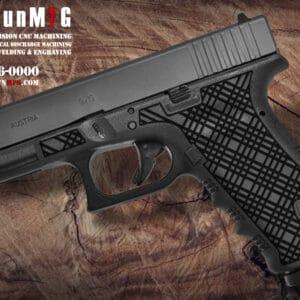 Glock 17 Stippling Laser Stippling Glock 17 Frame T7 Pattern glock