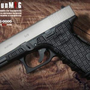 Glock 19 Stippling Laser Stippling Glock 19 Frame T10 Pattern glock