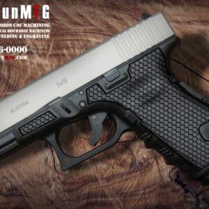 Glock 19 Stippling Laser Stippling Glock 19 Frame T2 Pattern glock