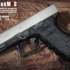 Glock 19 Stippling Laser Stippling Glock 19 Frame T24 Pattern glock