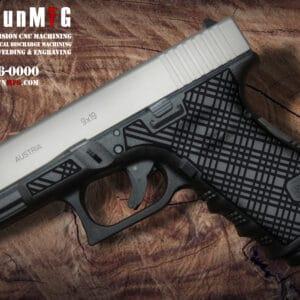 Glock 19 Stippling Laser Stippling Glock 19 Frame T7 Pattern glock