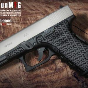 Glock 19 Stippling Laser Stippling Glock 19 Frame T8 Pattern glock