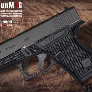 Glock 43 Stippling Laser Stippling Glock 43 Frame T23 Pattern glock