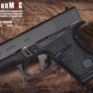 Glock 43 Stippling Laser Stippling Glock 43 Frame T24 Pattern glock