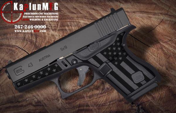 Glock 43 Laser Stippling Pattern T27
