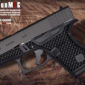 Glock 43 Stippling Laser Stippling Glock 43 Frame T28 Pattern glock