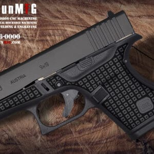 Glock 43 Stippling Laser Stippling Glock 43 Frame T4 Pattern glock